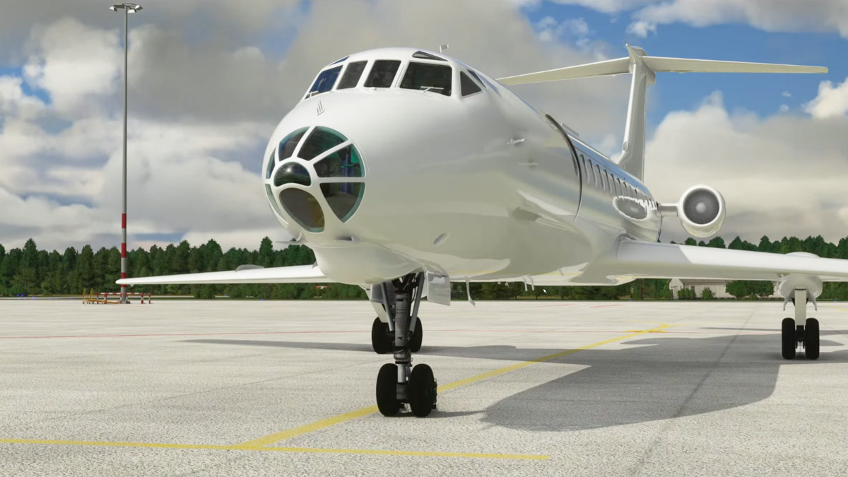 A development update from the East: the Tupolev Tu-134 may compel you to learn Russian!