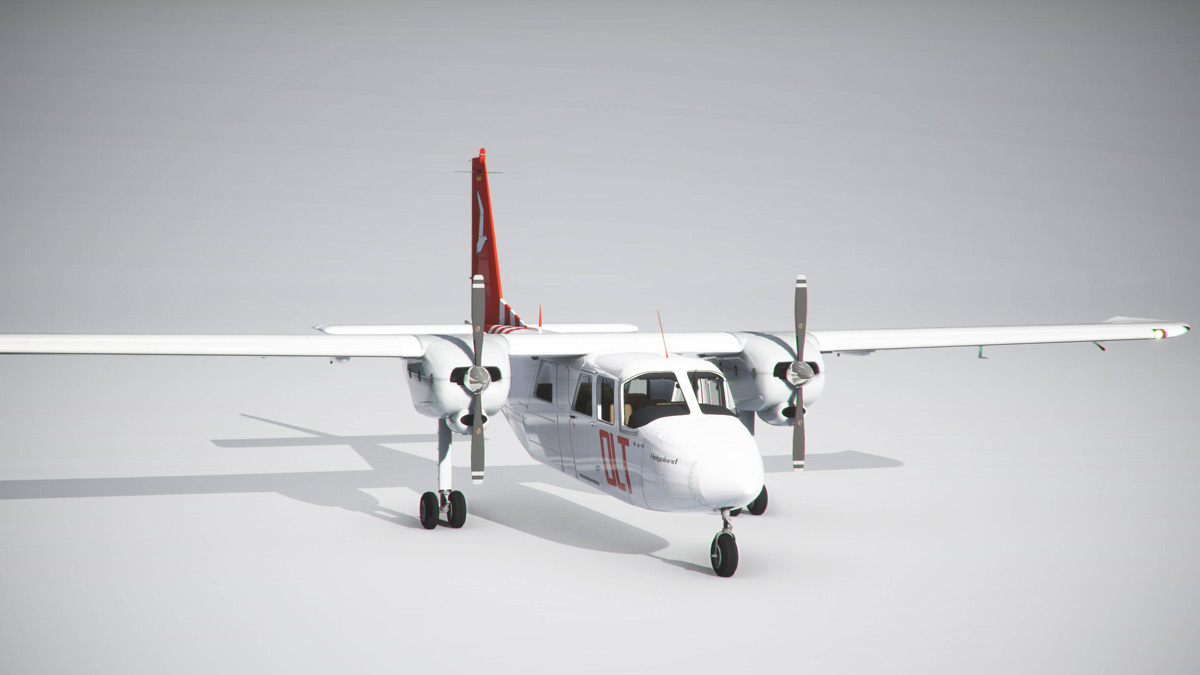 The Britten-Norman BN-2 Islander is now available for Flight Simulator
