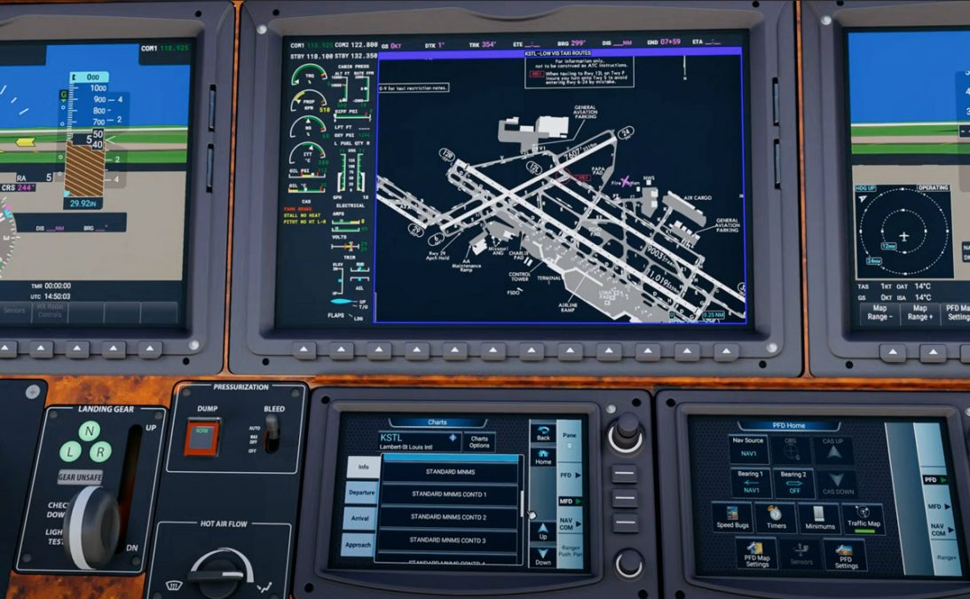 Working Title G3000 mod now supports Navigraph charts and standby flight plans