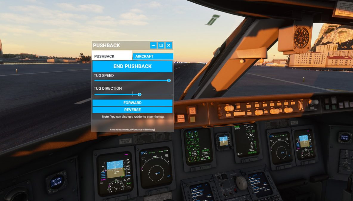 Get full control over your pushback with Toolbar Pushback