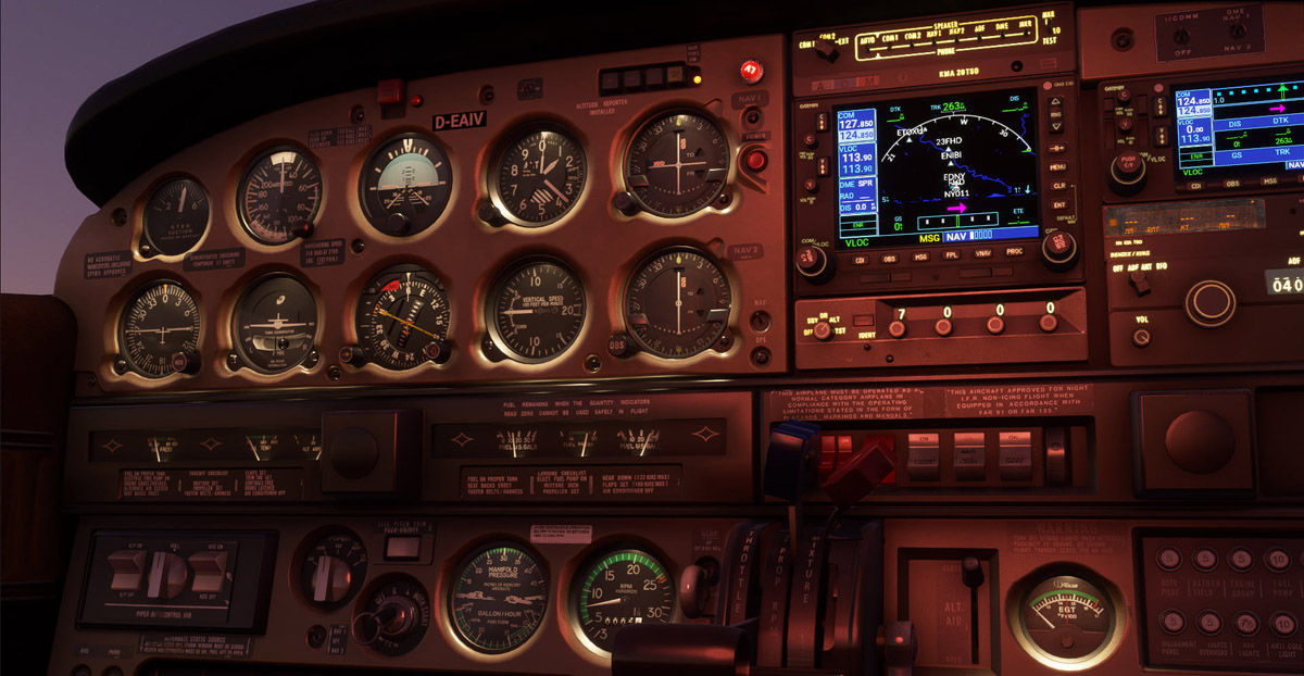 Just Flight updates the Arrow and Turbo Arrow with improved cockpit lighting, EFB brightness controls, and more