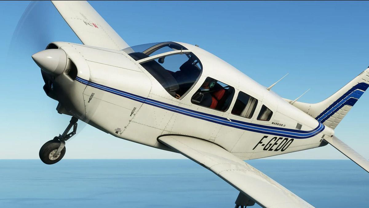 Just Flight shares new images of the Piper Warrior II for MSFS – coming in the next few weeks