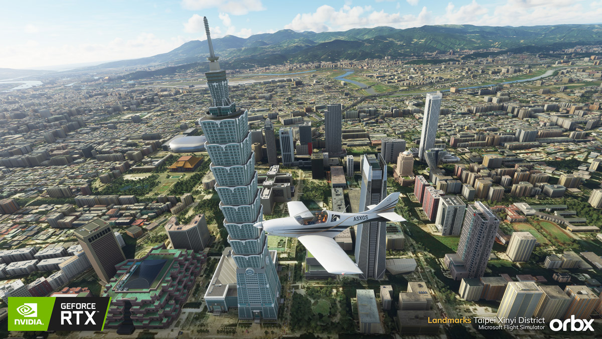 Orbx releases freeware Landmarks Taipei Xinyi District, in a partnership with NVIDIA