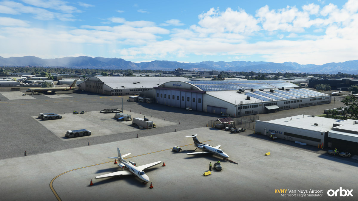 Orbx releases Van Nuys Airport for MSFS, the largest and busiest GA airport in the world