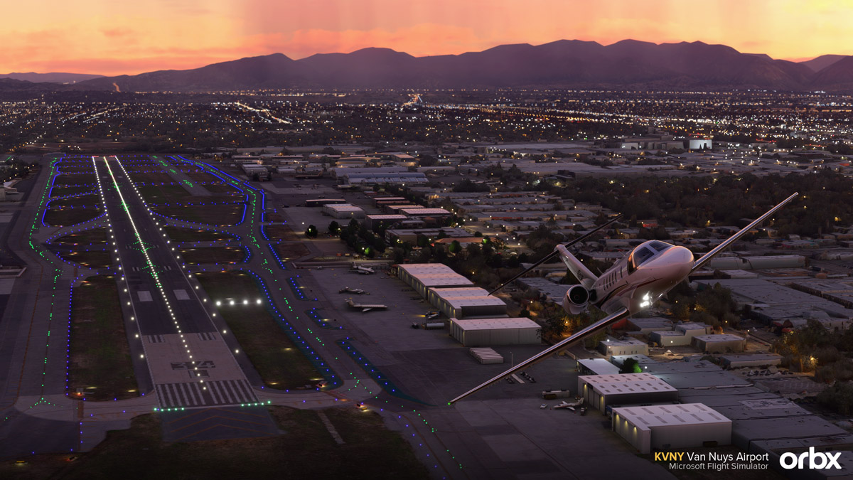 Van Nuys Airport, the busiest GA airport in the world, is coming to MSFS by the hands of Orbx