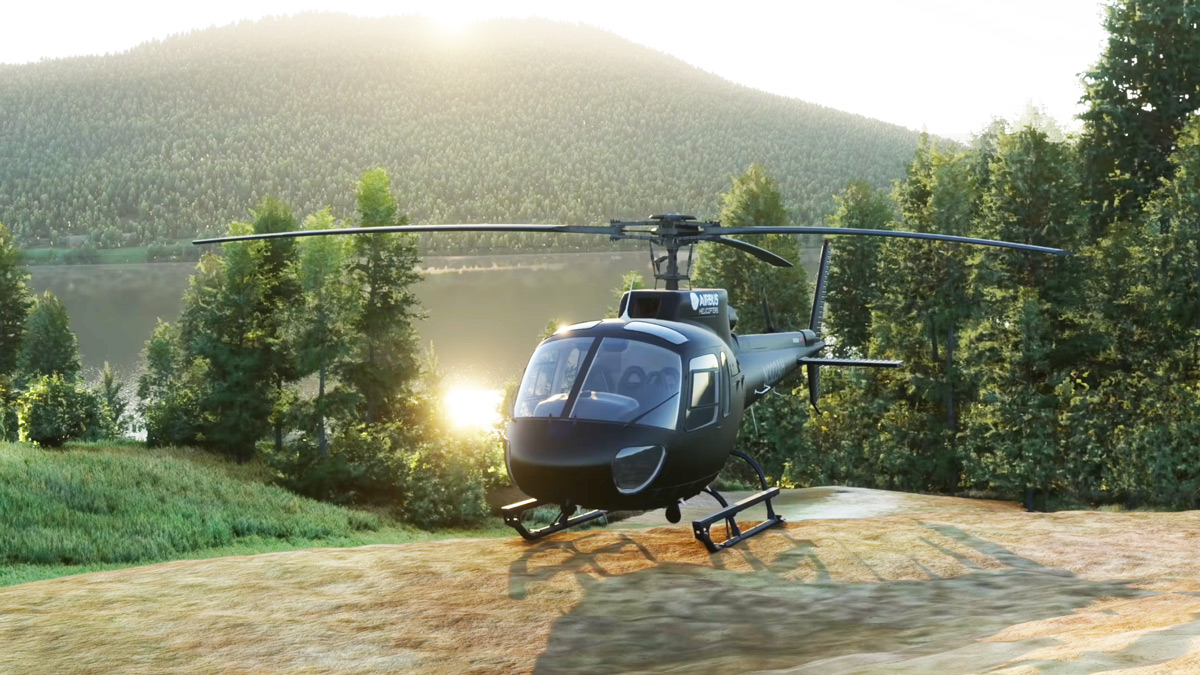 Two new helicopters under development for MSFS: meet the freeware Airbus H125 and Robinson R44