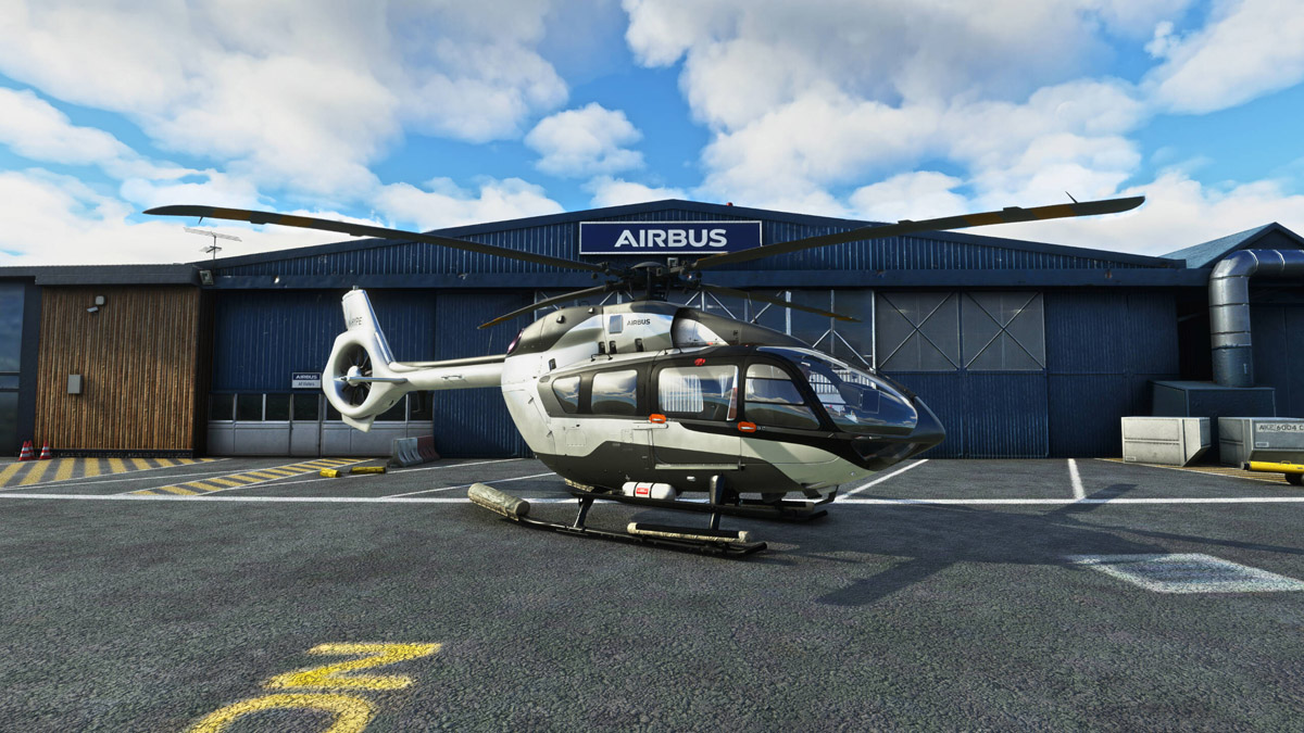 Here are the first images of the Airbus H145 inside MSFS