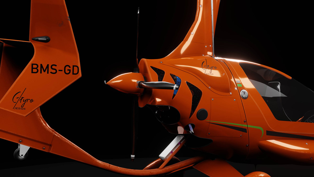 BlueMesh unveils the first autogyro for MSFS