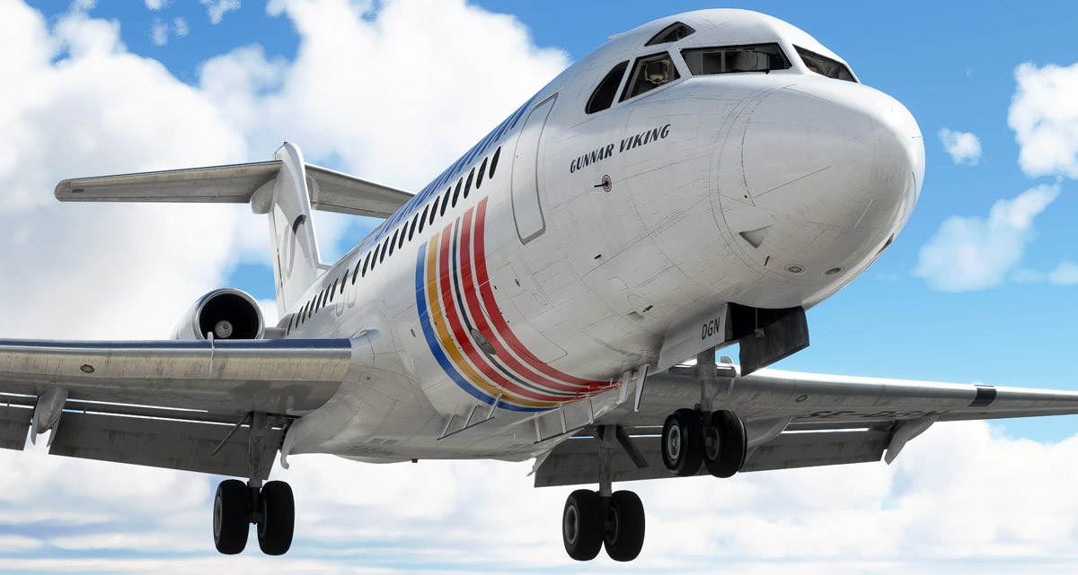 Just Flight shares new images of the Fokker F28 Fellowship for MSFS