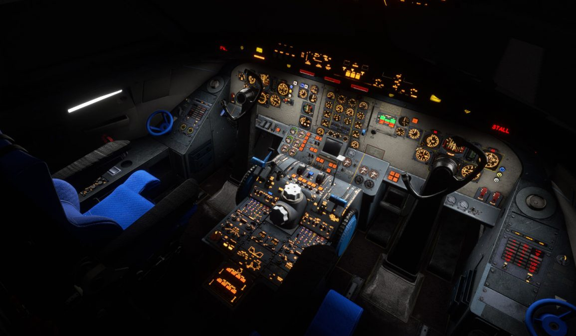 A first look into the cockpit of the Fokker F28 Fellowship