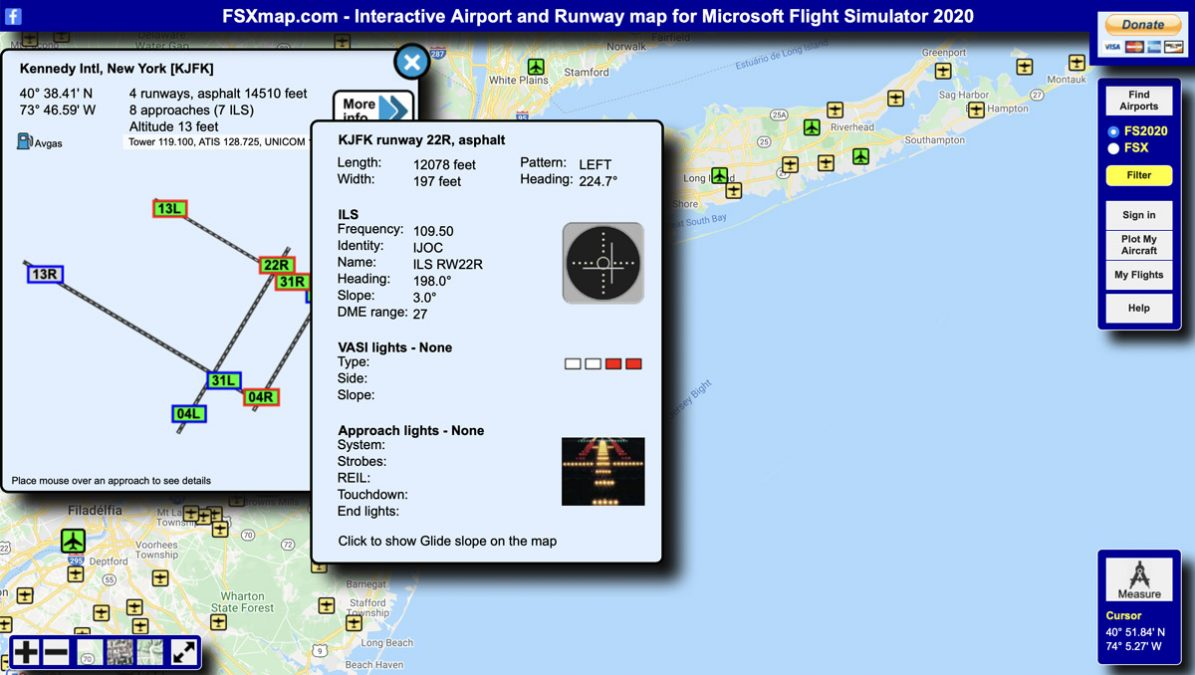 FSXmap is a very useful browser-based interactive map for Flight Simulator
