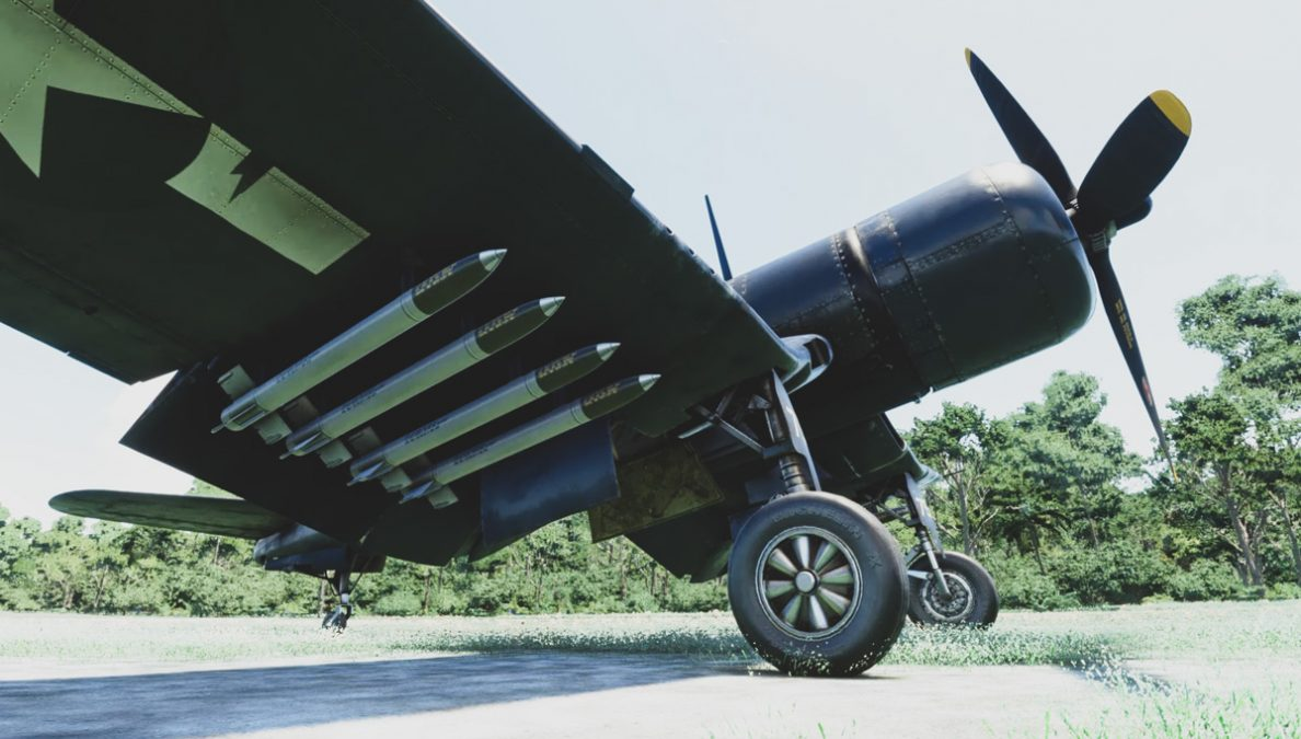 """Milviz FG-1D Corsair gets a major update for MSFS, now carries bombs and """"fires"""" .50 cal rounds"""
