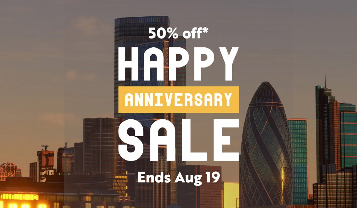 MSFS is 1-year-old today. Enjoy 50% off in a selection of Orbx add-ons