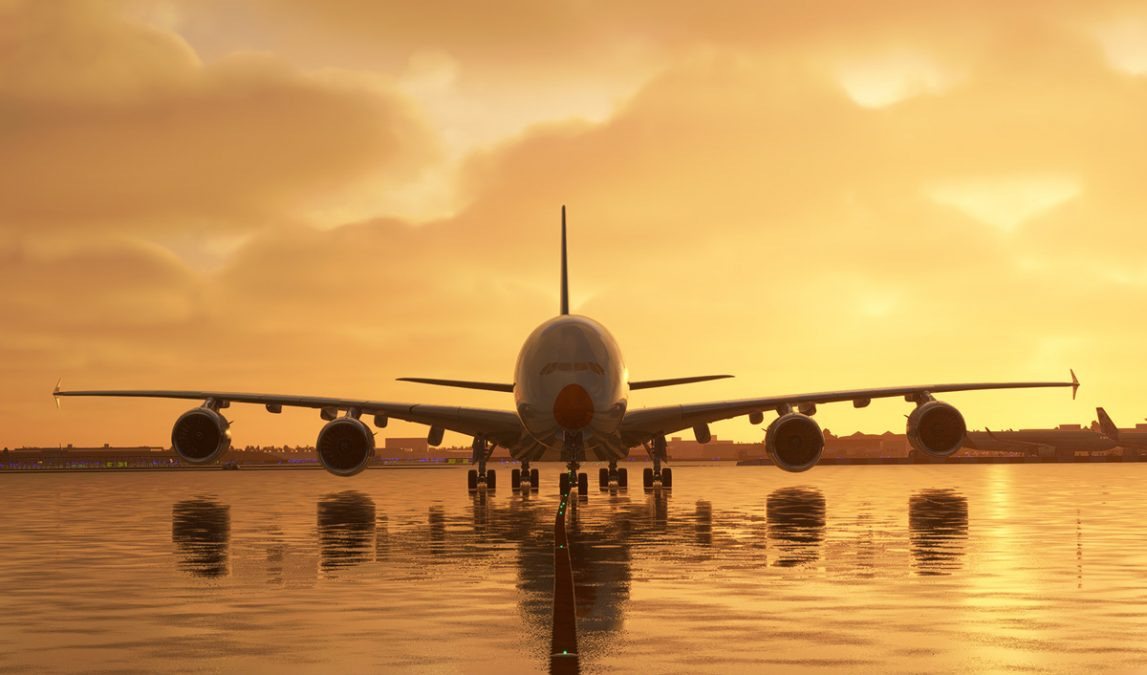 FlyByWire unveils first full exterior shots of its A380X for Flight Simulator