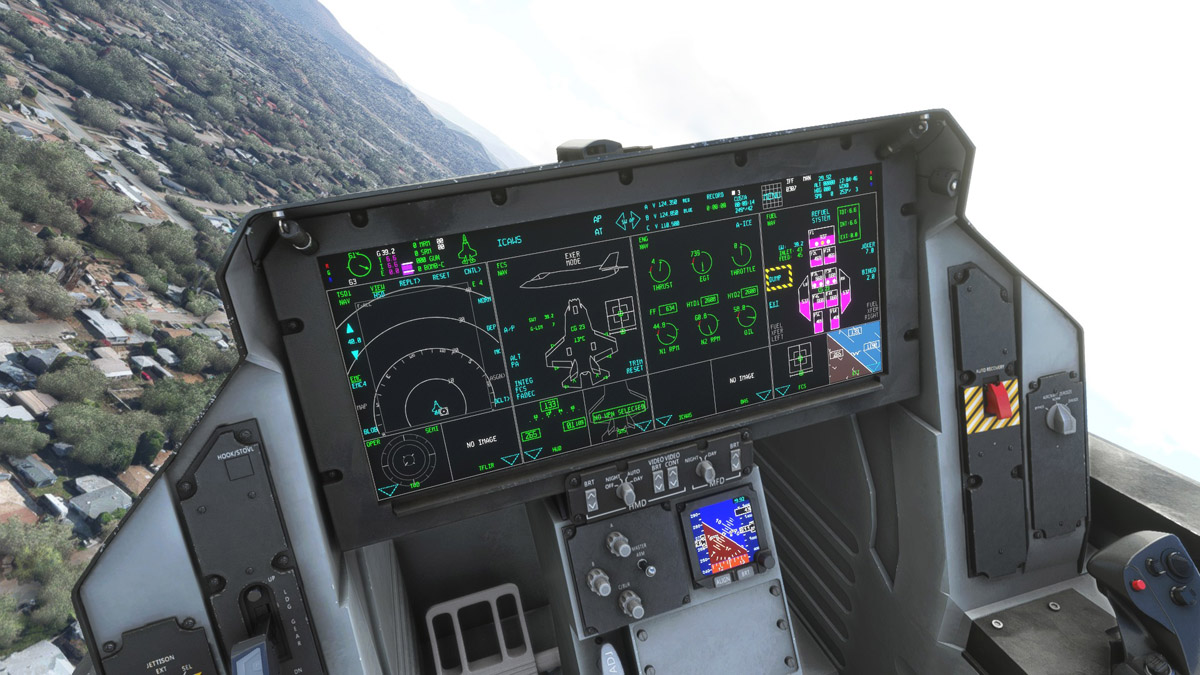 Indiafoxtecho shows first images of the F-35 cockpit in MSFS