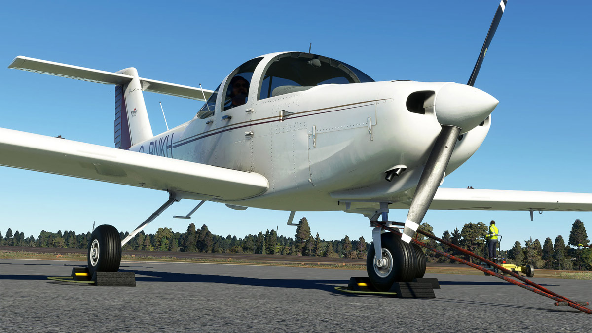 Just Flight previews the Piper PA-38 Tomahawk for MSFS