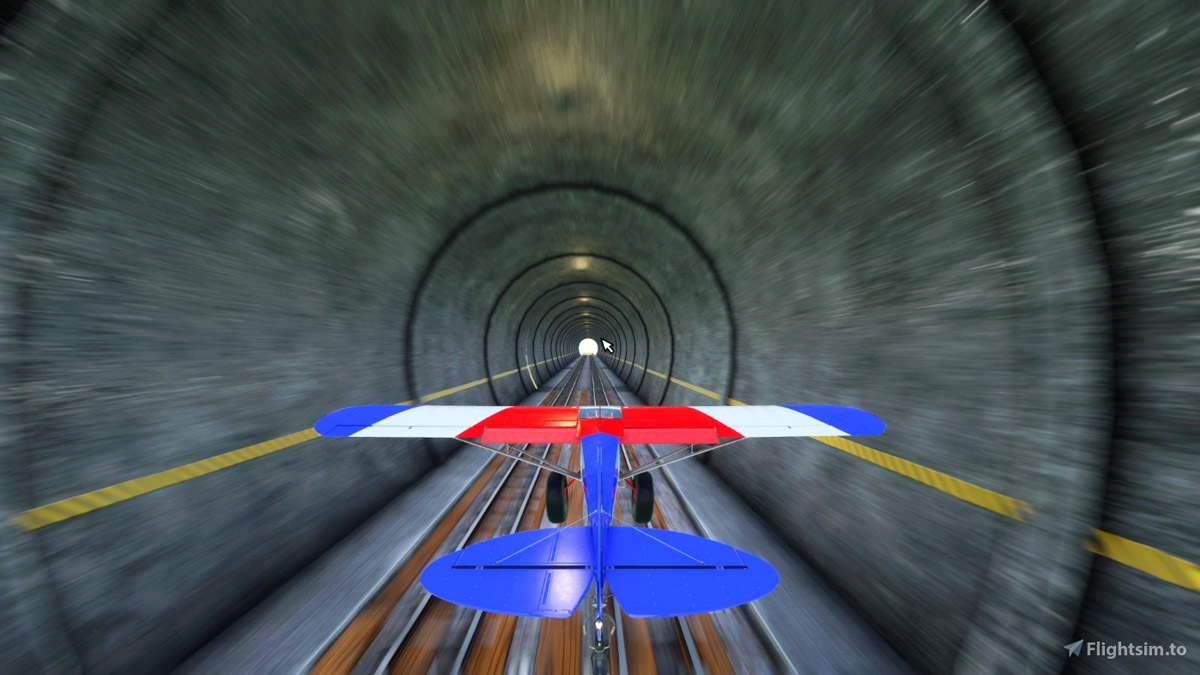 Challenge yourself flying through a tight 7.5km tunnel in MSFS