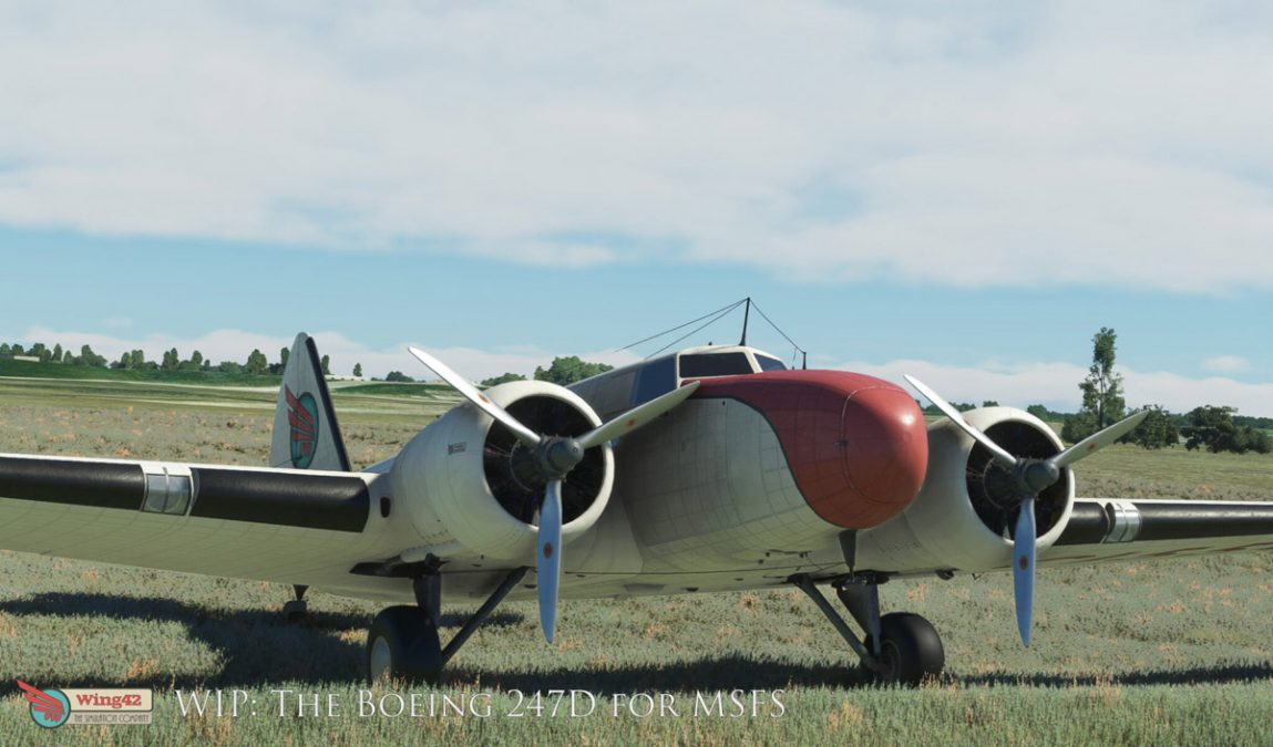 Wing42 is back with news about the Boeing 247D for MSFS