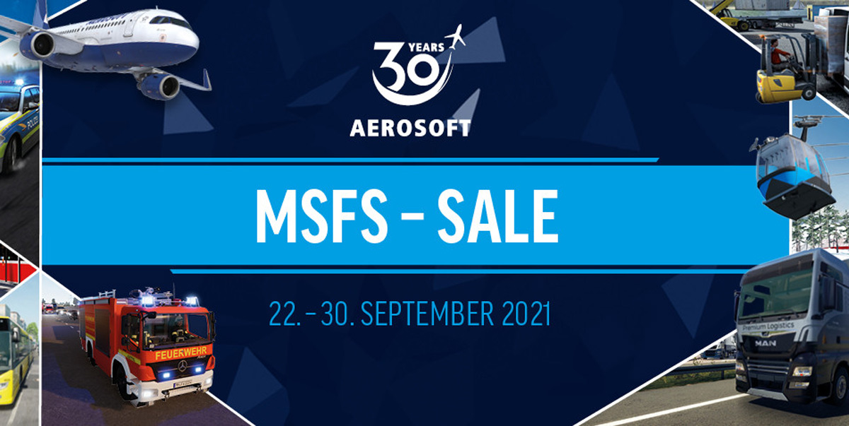 Get 30% off Aerosoft's add-ons for MSFS in celebration of its 30th anniversary