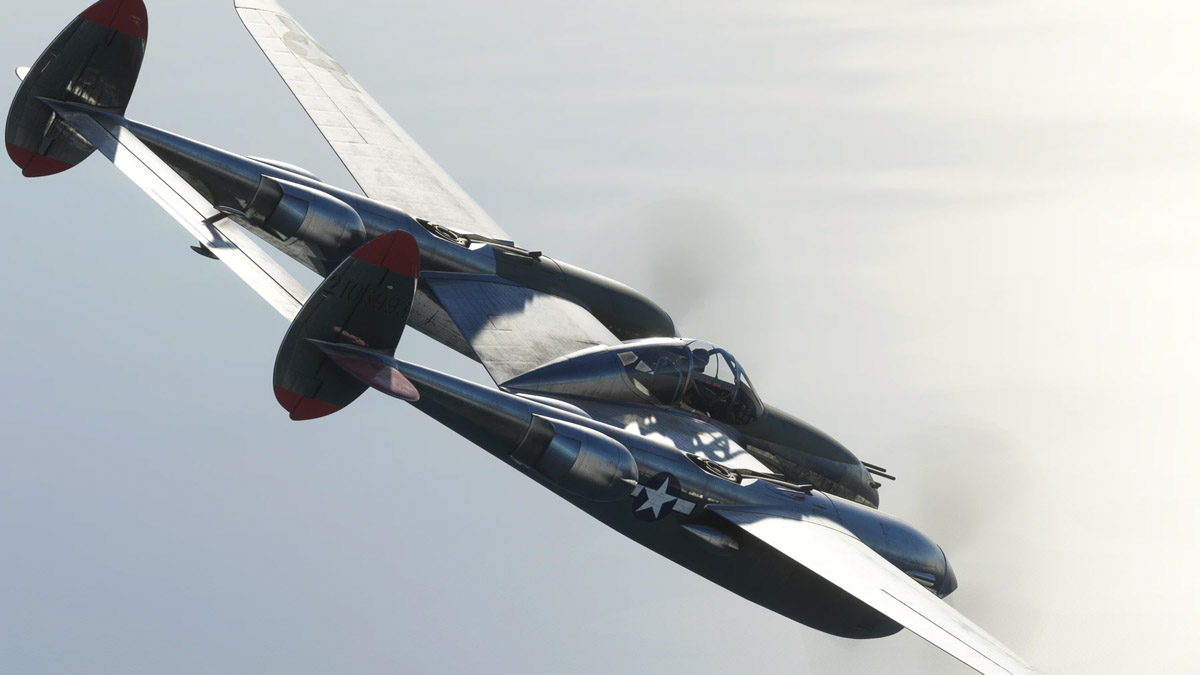 The P-38L Lightning from FlyingIron Simulations is now available for MSFS