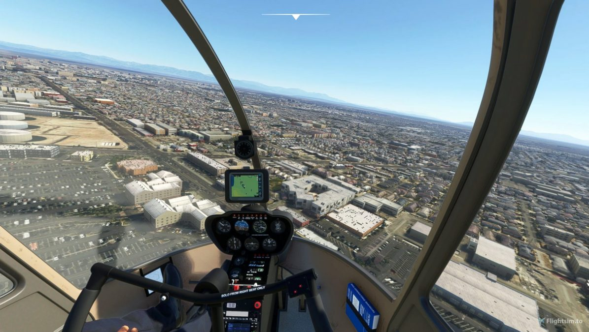 Rotor Sim Pilot's freeware helicopter, the Robinson R44, is now available for MSFS