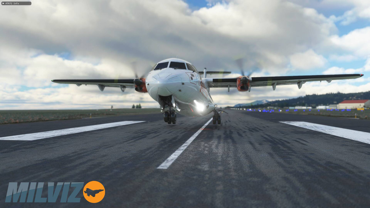Check these stunning first exterior images of the Milviz ATR 72-600 for MSFS